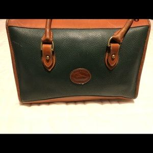 VINTAGE Dooney & Bourke Handbag-Green and Tan